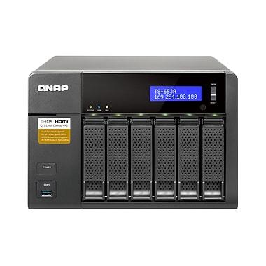 QNAP – Combo NAS QTS-Linux 6 baies, mémoire vive de 4 Go (TS-653A-4G-US)