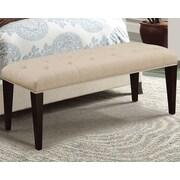 A&J Homes Studio Taylor Upholstered Bedroom Bench; Beige