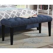 A&J Homes Studio Taylor Upholstered Bedroom Bench; Blue