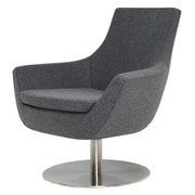 Modern Chairs USA Joy Swivel Lounge Chair; Dark Gray