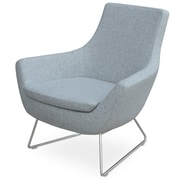 Modern Chairs USA Joy Wire Lounge Chair; Light Gray