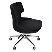 Modern Chairs USA Europa Mid-Back Task Chair with Swivel; Dark Gray