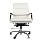 Joseph Allen Mid-Back Leather Executive Office Chair with Arm (Set of 4); White