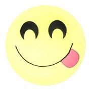 Innova Imports Emojee Heart Eyes Throw Pillow; EMOJI PILLOWS - SMILING TONGUE