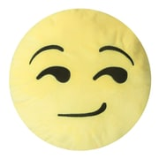 Innova Imports Emojee Heart Eyes Throw Pillow; EMOJI PILLOWS - SMIRK