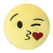 Innova Imports Emojee Heart Eyes Throw Pillow; EMOJI PILLOWS - KISS HEART