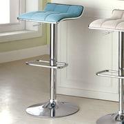 Hokku Designs Adjustable Height Swivel Bar Stool; Blue