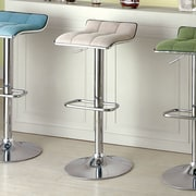 Hokku Designs Enders Adjustable Height Swivel Bar Stool; Ivory