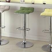 Hokku Designs Adjustable Height Swivel Bar Stool; Green
