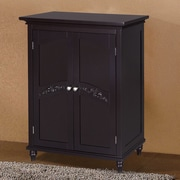 Elegant Home Fashions Versailles 27'' W x 34'' H Cabinet; Dark Espresso