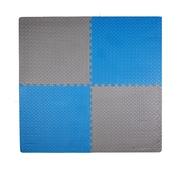 Tadpoles 12 Piece Leaf Playmat Set; Blue / Grey