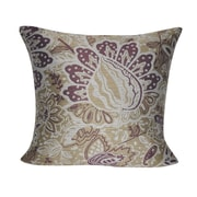 Loom and Mill Paisley Throw Pillow; Tan