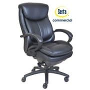 Serta at Home Series 300 Puresoft  High-Back Executive Chair; Black