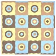 Tadpoles Tadpoles Circles Squared Playmat Set; Blue / Khaki