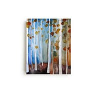 Mai Autumn Fall Leaves by Christine Lindstrom Framed Painting Print on Canvas; 30'' H x 20'' W