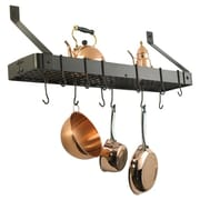 Old Dutch Wall Mounted Pot Rack with Grid; Oiled Bronze