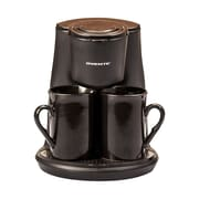Ovente 4 Piece 2-Serving Coffee Maker Set; Black