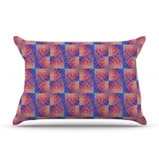 KESS InHouse Splash Revisited by Ebi Emporium Blue Cotton Pillow Sham