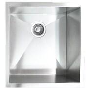 eModern Decor 19'' x 20'' Single Bowl Undermount Kitchen Sink