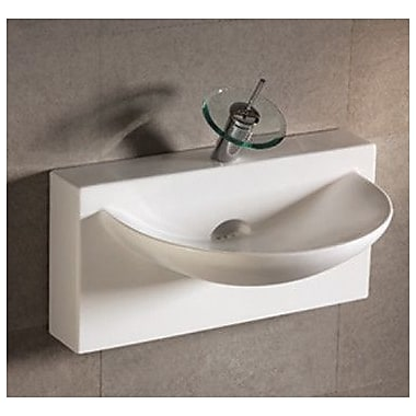 Whitehaus Collection Isabella Bathroom Sink w/ U-shaped bowl and Integral Rear Center Drain