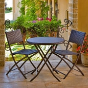 RST Brands Outdoor Wicker 3 Piece Bistro Set