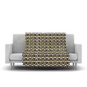 KESS InHouse Aztec Triangles Gold Fleece Throw Blanket; 40'' L x 30'' W