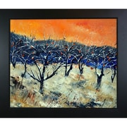 Tori Home Ledent - Apple Trees in Winter Framed, High Quality Print on Canvas