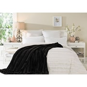 Cathay Home, Inc Luxe Throw Blanket; Chocolate
