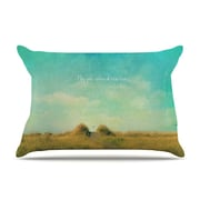 KESS InHouse May Your Wishes by Robin Dickinson Blue Cotton Pillow Sham