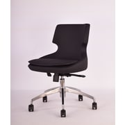 Modern Chairs USA Europa Mid-Back Task Chair with Swivel; Black