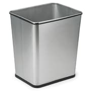Polder Products LLC 7 Gallon Steel Trash Can; Silver