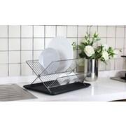 Hopeful Enterprise Foldable Dish Rack with Drainboard; Chrome