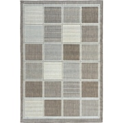 Ottomanson Jardin Contemporary Boxes Design Brown Outdoor Area Rug; 5'3'' x 7'3''