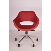 Modern Chairs USA Mid-Back Office Chair; Red