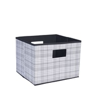 Household Essentials Deluxe Open Storage Bin w/ Cutout Handles