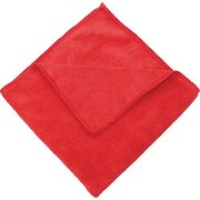 "Zwipes 16 x 16"" Microfiber Cleaning Towel, Red Package Of 12 (H1-726)"
