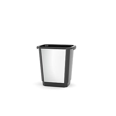 Kis Studio Series Waste Basket, 14L, Plastic Stainless Steel Finish, (29052D)
