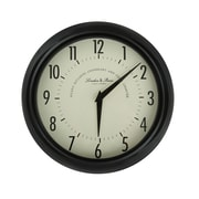 AdecoTrading Vintage-Inspired 9.8'' Round Large Numbers Wall Hanging Clock; Matte Black