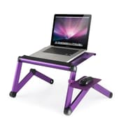 Furinno Ergonomics Adjustable Laptop Cart; Purple