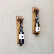 DanyaB 1 Bottle Wall Mount Wine Rack (Set of 2)
