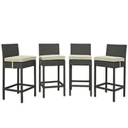 Modway Sojourn 27.5'' Bar Stool (Set of 4); Beige