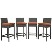 Modway Sojourn 27.5'' Bar Stool (Set of 4); Tuscan