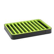 Hopeful Enterprise Compact Dish Rack; Gray / Green