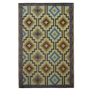 Fab Rugs World Lhasa Royal Blue/Chocolate Brown Indoor/Outdoor Area Rug; 3' x 5'