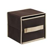 Furinno Laci Foldable Storage Drawer (Set of 4); Dark Brown / Brown