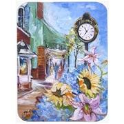 Caroline's Treasures Fairhope Clock Glass Cutting Board