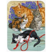 Caroline's Treasures Cats Glass Cutting Board