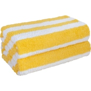 Crover Cabana Stripe Beach Towel (Set of 2); Yellow