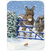 Caroline's Treasures Donkeys and Robin Glass Cutting Board