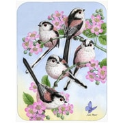Caroline's Treasures Party of 5 Long Tailed Tits Glass Cutting Board